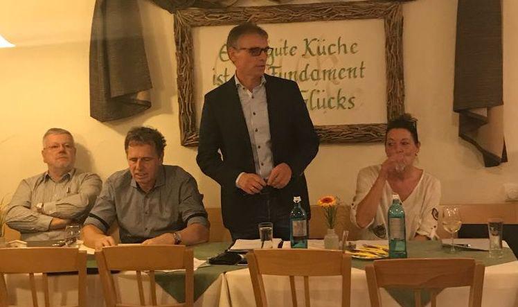 v.l.n.r. Hans-Peter Reichert, Bernd Küstner, Andreas Möhle, Monika Krail